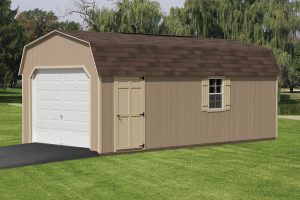12x24 Minibarn One Car Garage Fisher Structures