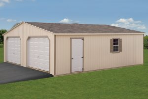 24x28 Double Wide Garage Fisher Structures