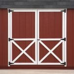 crossbuck shed door