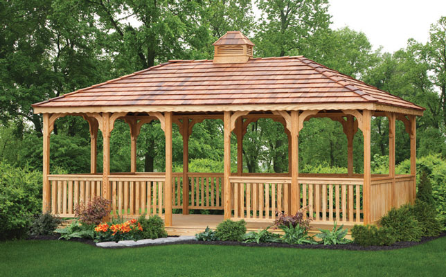 Rectangle Wood Gazebo