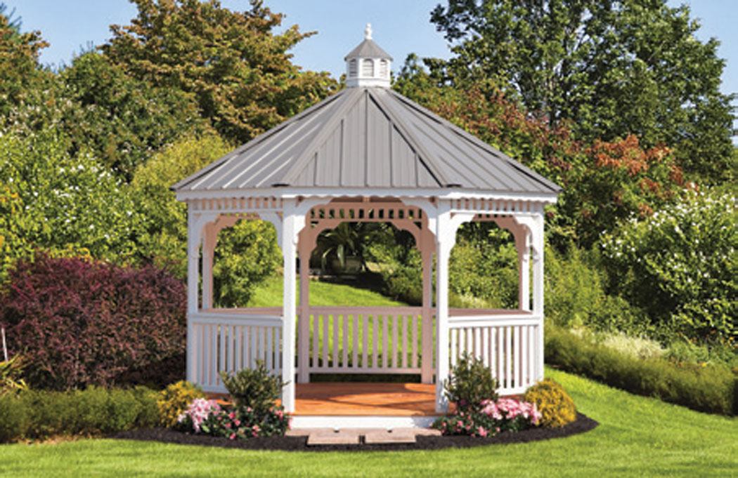 12' Wood Octagon Gazebo Fisher Structures