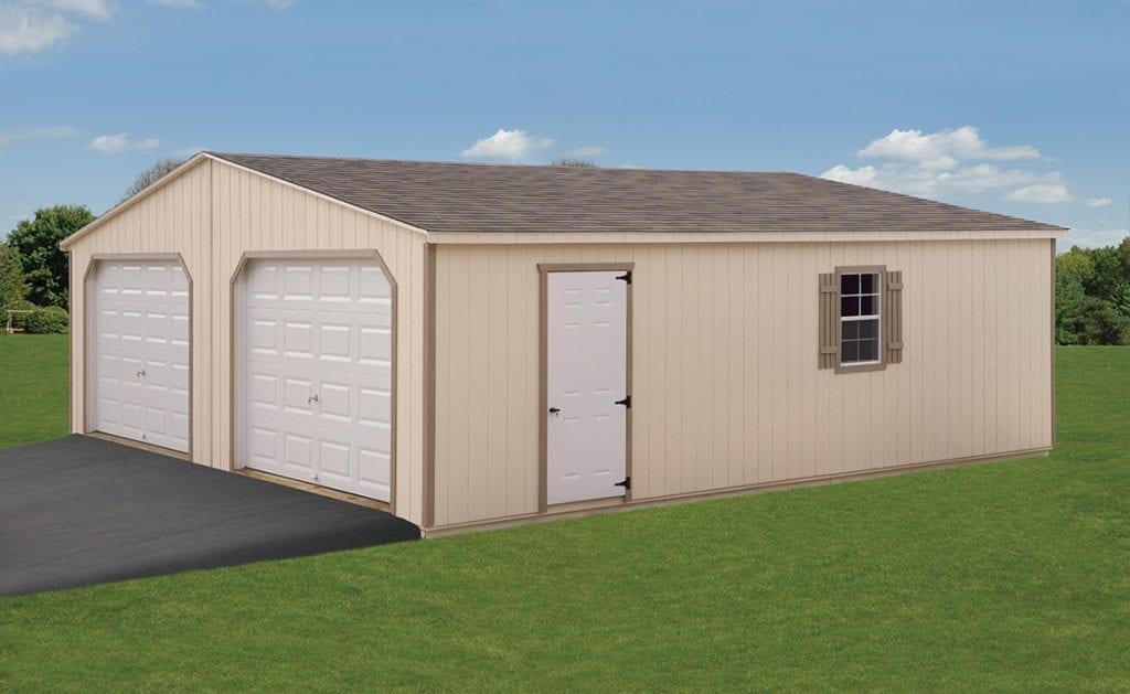 24x28 Double wide garage
